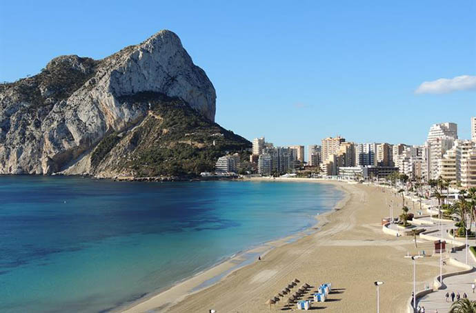 Playa levante Calpe
